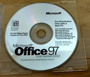 Details about MICROSOFT OFFICE 97 SMALL BUSINESS EDITION WITH CD KEY  INCLUDED