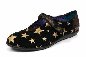 Black Flat Slip On Shoes Irregular Choice /'Rumba/' A