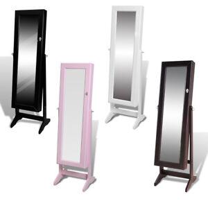 Armoire bijoux rangement miroir meuble r glable avec les couleurs au choix ebay - Meuble rangement bijoux miroir ...