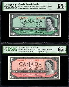 1954-Bank-of-Canada-1-2-Banknote-PMG-UNC-65-EPQ
