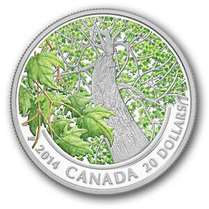 2014-20-Maple-Canopy-Spring-Splendour-Pure-Silver-Coin
