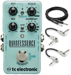 New-TC-Electronic-Quintessence-Harmonizer-Guitar-Effects-Pedal-Free-Hosa-Cables