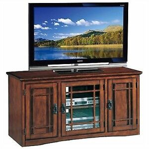 Leick Riley Holliday Mission Tall Tv Stand 50 Inch Oak Ebay
