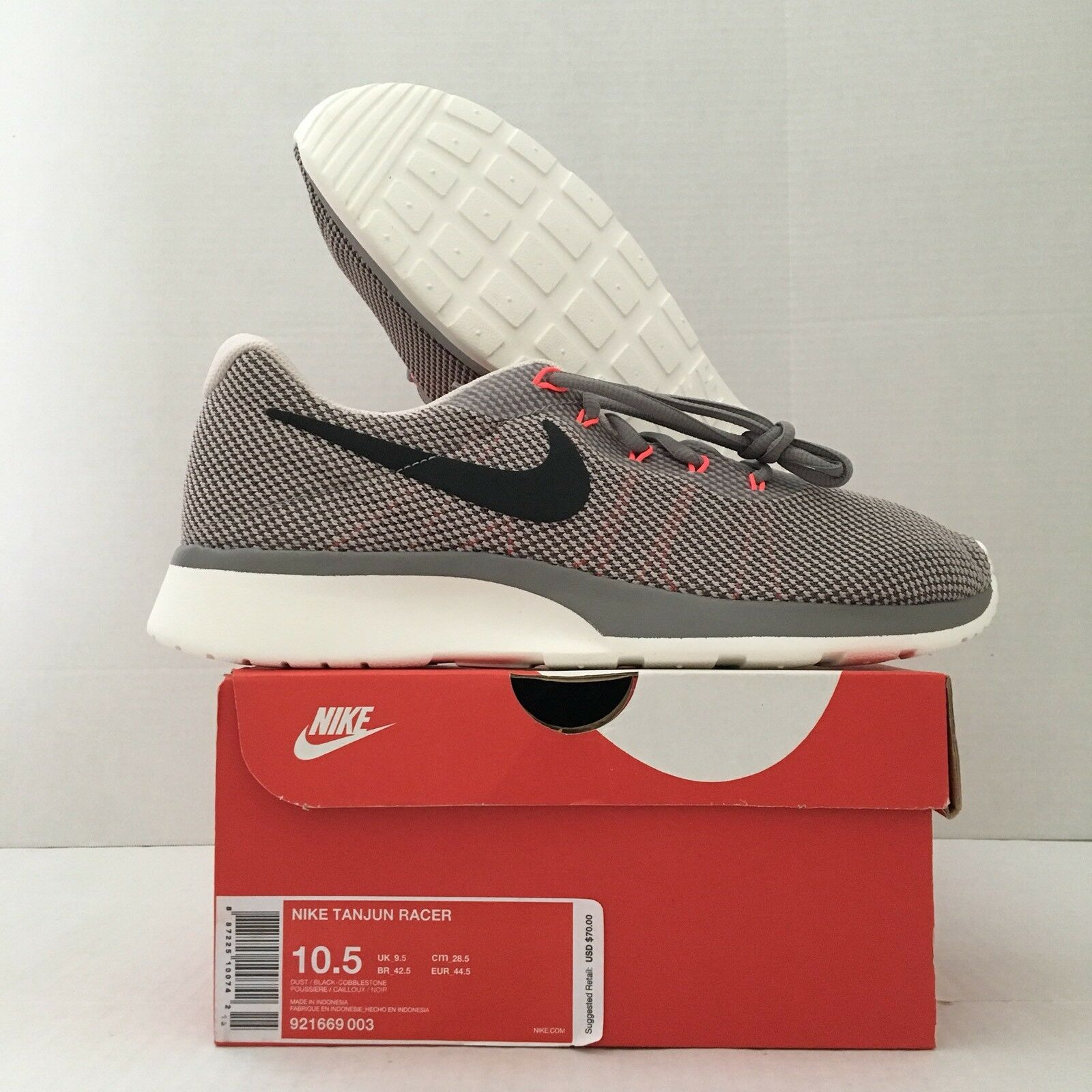 Nueva / Nike Tanjun Racer zapatillas 921669-003 gris / Nueva BLK / naranja comodo 9c130d