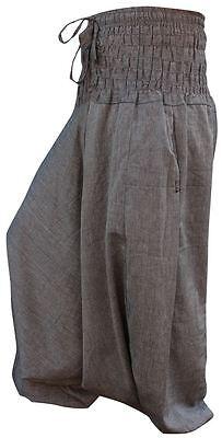 Energico Unisex Plain Hippie Harem Aladino Baggy Loose Fit Genie Gypsy Gotico Pantaloni Pants-mostra Il Titolo Originale Nuove Varietà Sono Introdotte Una Dopo L'Altra