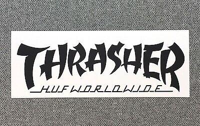 Thrasher Logo Skateboard sticker 5.5in white si