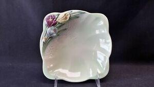 Beswick-England-1711-Purple-Yellow-Blue-Tulip-Flower-Bowl