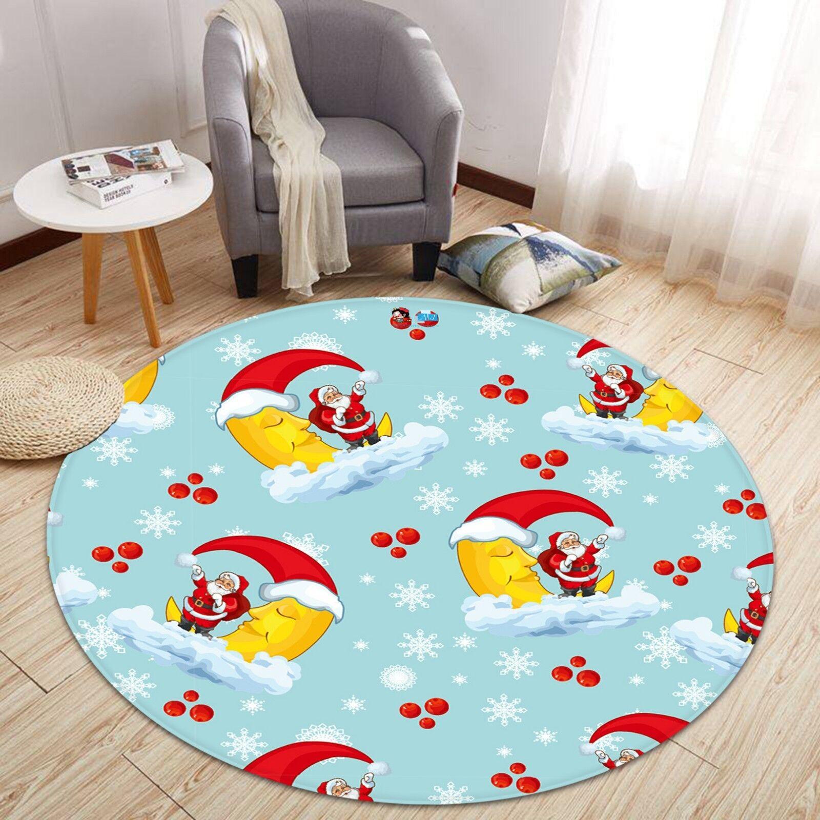 3d Natale Xmas 04 antiscivolo tappeto tappetino vano giri elegante TAPPETO de