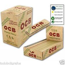 50 libritos de papel de fumar OCB ORGANICO. cañamo.  tamaño normal 1 1/4.