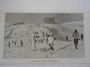 Montagne-Ski-l-039-apres-midi-sur-le-plateau-de-Superbagneres-Image-Print-1923