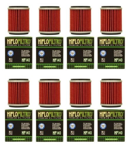 YAMAHA YFZ 450R 450X 450 NEW 8 PACK HIFLOFILTRO HF140 OIL FILTERS