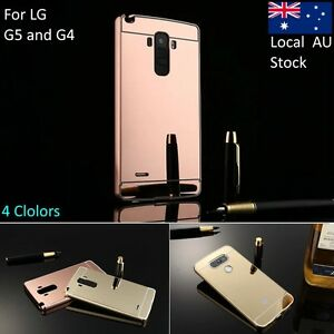 reputable site 10e00 a6ed6 Details about For LG G4 For LG G5 Aluminum Metal Frame Acrylic Back Cover  Plating Mirror Case