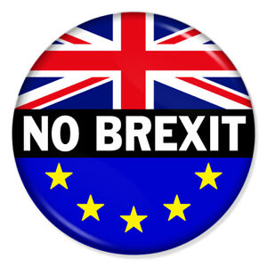 "EU EUROPE REFERENDUM// BREXIT// NO TO EUROPE//YES TO EU// BADGE 1/""//25 mm diameter"