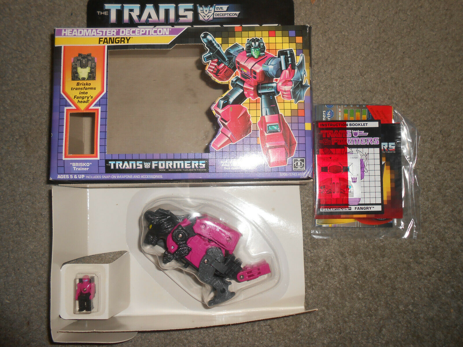 G1 transformers Fangry Sealed on the bubble AFA it