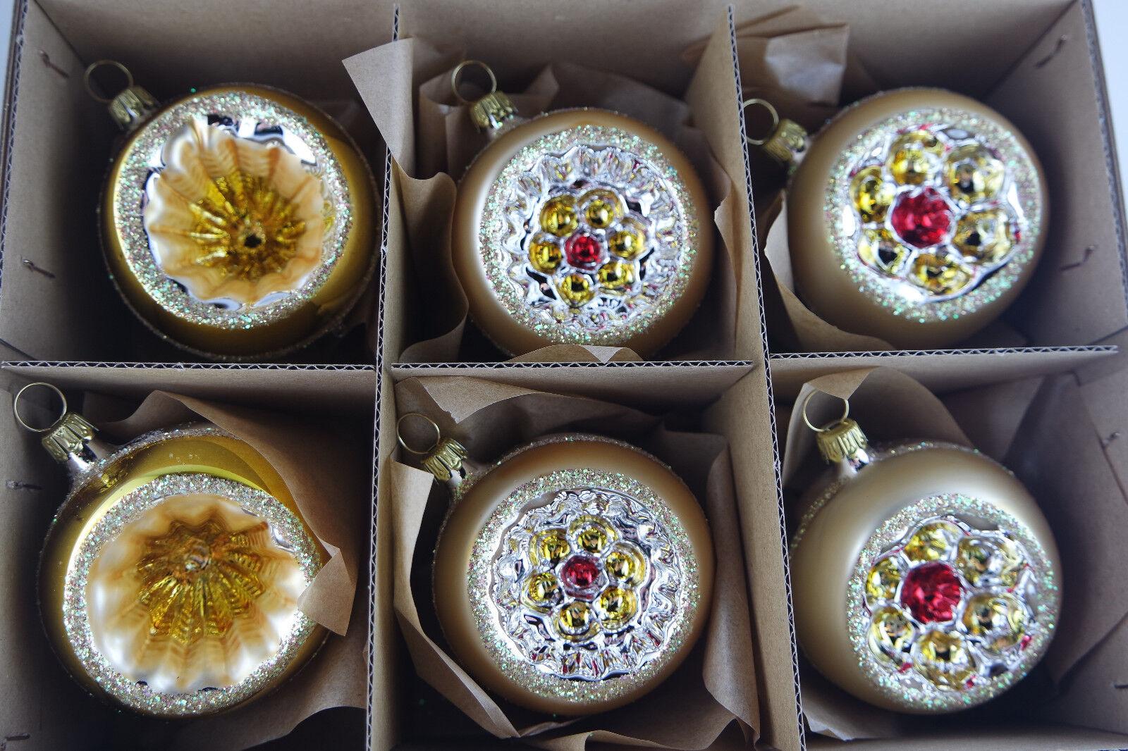 6 Set Molto Bella Sfere Riflettenti oro OPACO,oro OPACO,oro OPACO,oro 6cm Gioielli Albero di Natale 6fc54b