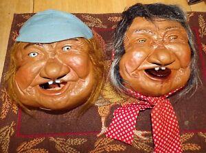 Neat Original Peter Figuren Laffun Head Squirter BIBI Old Man & Old Woman Heads