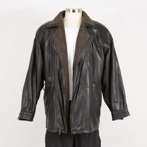 Mens MIDWAY Warm Winter Leather Jacket Size M Medi