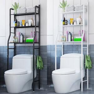 Bathroom Storage Cabinet Metal 3 shelf over the toilet bathroom space saver metal towel storage