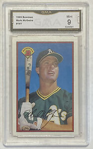 1989-Bowman-Mark-McGwire-197-Graded-Card-GMA-PSA-9-Athletics-Cardinals