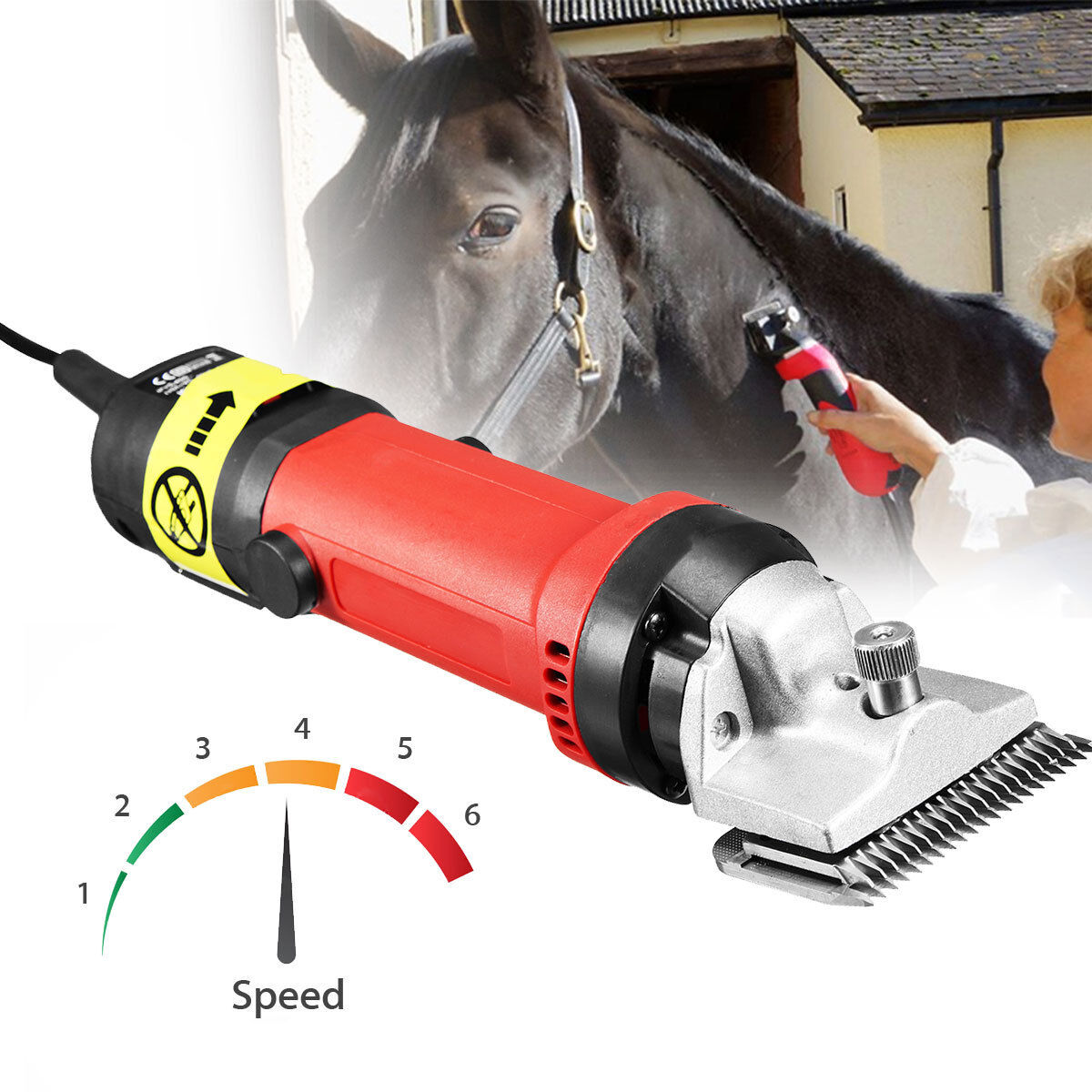 350W  PET DOG HEAVY DUTY HORSE CATTLE ANIMALS HAIR CLIPPERS SHEAR TRIMMER EUplug  factory outlet store