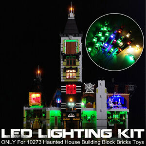LED-Light-Lighting-Kit-ONLY-For-LEGO-10273-Haunted-House-Building-Block-Bricks