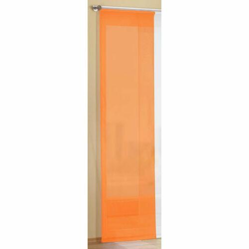 2 er pack Schiebegardine Orange B  2 x 57 cm  x H 2 x 160 cm