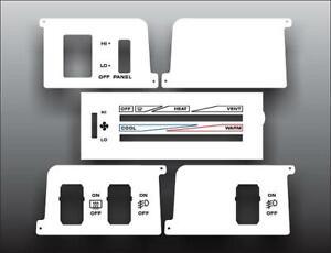1987-1991-Jeep-Wrangler-YJ-White-Heater-Control-Switch-Overlay-HVAC