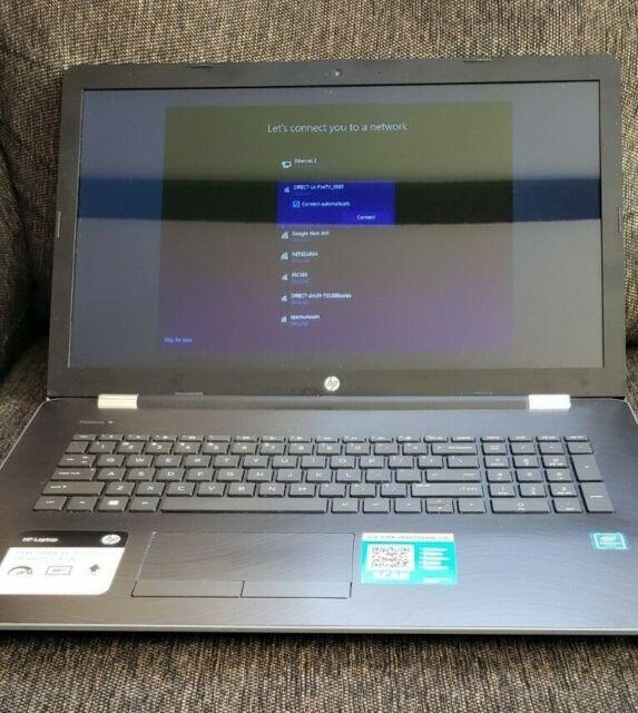 "HP Notebook 17-bs072nr 17.3"" HD Intel Pentium N3710 8GB Ram 1 TB HDD Windows 10"