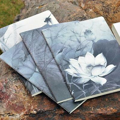 """Lotus Flowers"" Exercise Book Pack of 4 Lined Notebook Journal Study Notepad"
