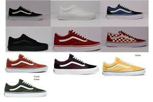 Vans-Old-Skool-Skateboard-Classic-Black-White-Navy-Mens-Womens-Shoes