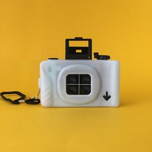 LOMO-Four-Lens-Point-and-Shoot-35mm-Film-Camera-4-Lens-Lomography-White-NEW