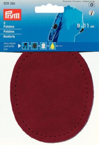 Prym Patches Veloursleder Aufnähen  9x11 cm rot 1 Paar 929365