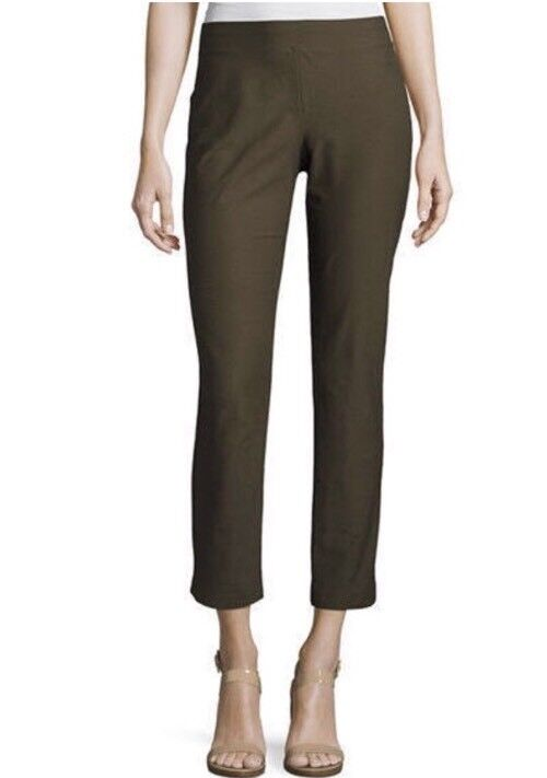 PM  168 NEW EILEEN FISHER SURPLUS WASHABLE STRETCH CREPE SLIM ANKLE PANT