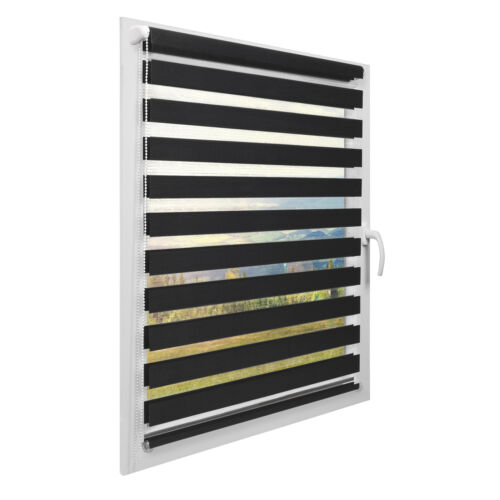 Sol Royal DL2 Double Layer Roller Window Blind Day Night LxW 220x100cm Anthracit