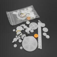 5 Sets 34 Kinds Plastic Gear Rack Pulley Belt Worm Gear Single Double Gear Teeth