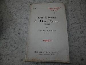 Details Sur 1915 Les Lecons Du Livre Jaune 14 18 Welschinger