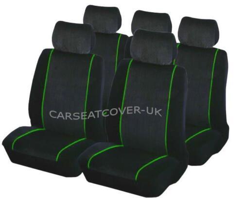 Luxury BLK//GREEN Car Seat Covers Protectors Full Set Seat Ibiza
