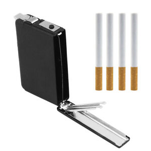 Automatic-Windproof-Lighter-Box-Ejection-Butane-Cigarette-Case-Holder-Dispenser