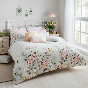 Cath Kidston Vintage Bunch Multi 100% Cotton 200 TC Bed Quilt Duvet Cover Set