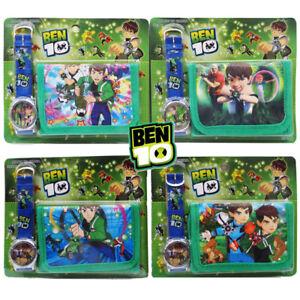 BEN-10-TOY-KIDS-CHILDREN-BOY-PRESCHOOL-ACCESSORIES-WATCH-WALLET-PURSE-BAG-SET