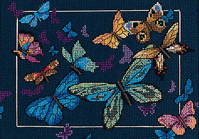 Exotic Butterflies Dimensions Needlecrafts 6846 Counted Cross Stitch