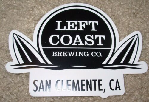 LEFT COAST BREWING San Clemente Die Cut STICKER decal craft beer brewery