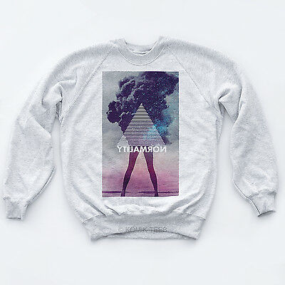 NORMALITY NEW RETRO SWEATER Indie Illuminati Galaxy High Hipster Tumblr Top