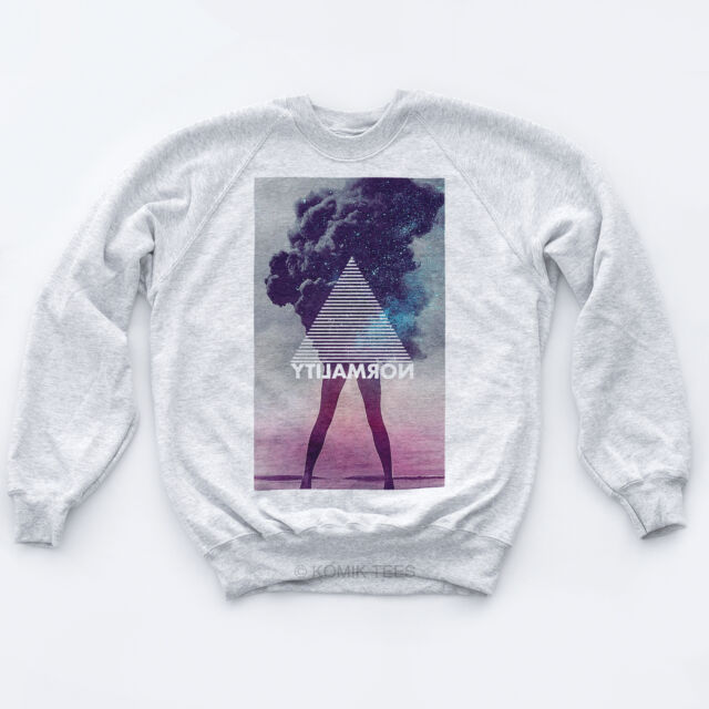 NORMALITY NEW RETRO SWEATER Indie Illuminati Galaxy High Obey Hipster Tumblr Top