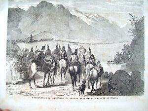 1866-RISORGIMENTO-GLI-AUSTRIACI-PASSANO-IL-BRENNERO