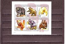 MADACASCAR-edizione 2001 Gomma integra, non linguellato 6v m/s Bears