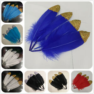 Wholesale-10-100pcs-Pretty-15-20-cm-6-8-inches-Natural-Goose-Feathers-Decoration