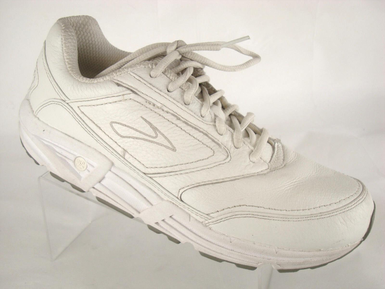 Brooks Addiction Walker Sneakers Linear Platform Platform Platform White Leather Womens Sz 10.5AA a508cf