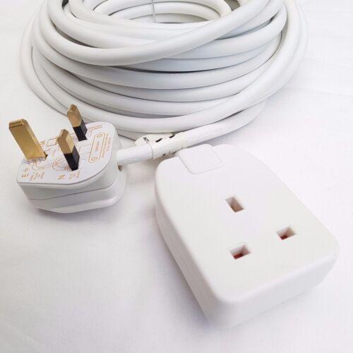 Pifco 10 m Extension Lead Câble 13 Amp Secteur Plug Prise Simple Gang