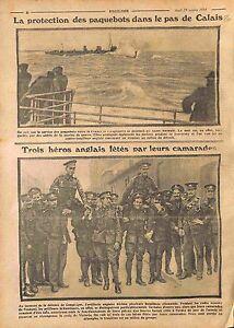 Protection-Paquebots-Pas-de-Calais-Royal-Navy-Tommies-Battle-Compiegne-WWI-1914